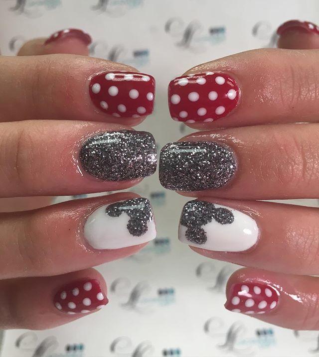 Uñas mickey mouse | manicure | Pinterest | Diseños de uñas, Arte de ...