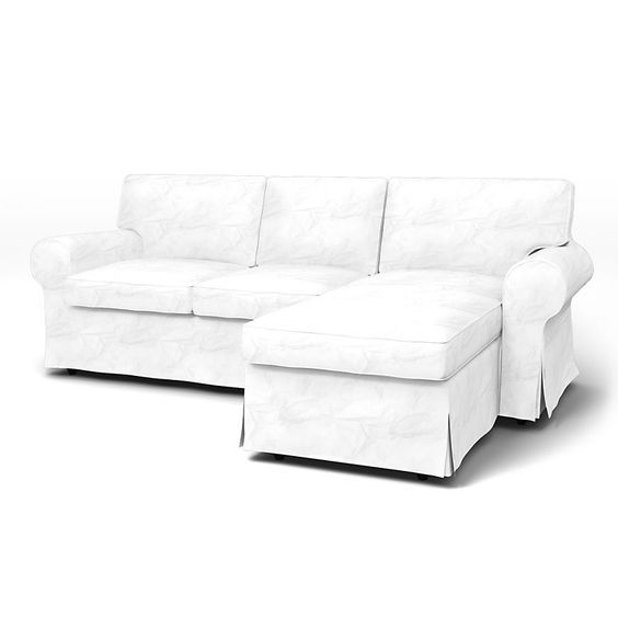 Ektorp Sofa Covers 2 Seater Chaise Longue Regular Fit using the fabric Panama  sc 1 st  Pinterest : ektorp chaise - Sectionals, Sofas & Couches