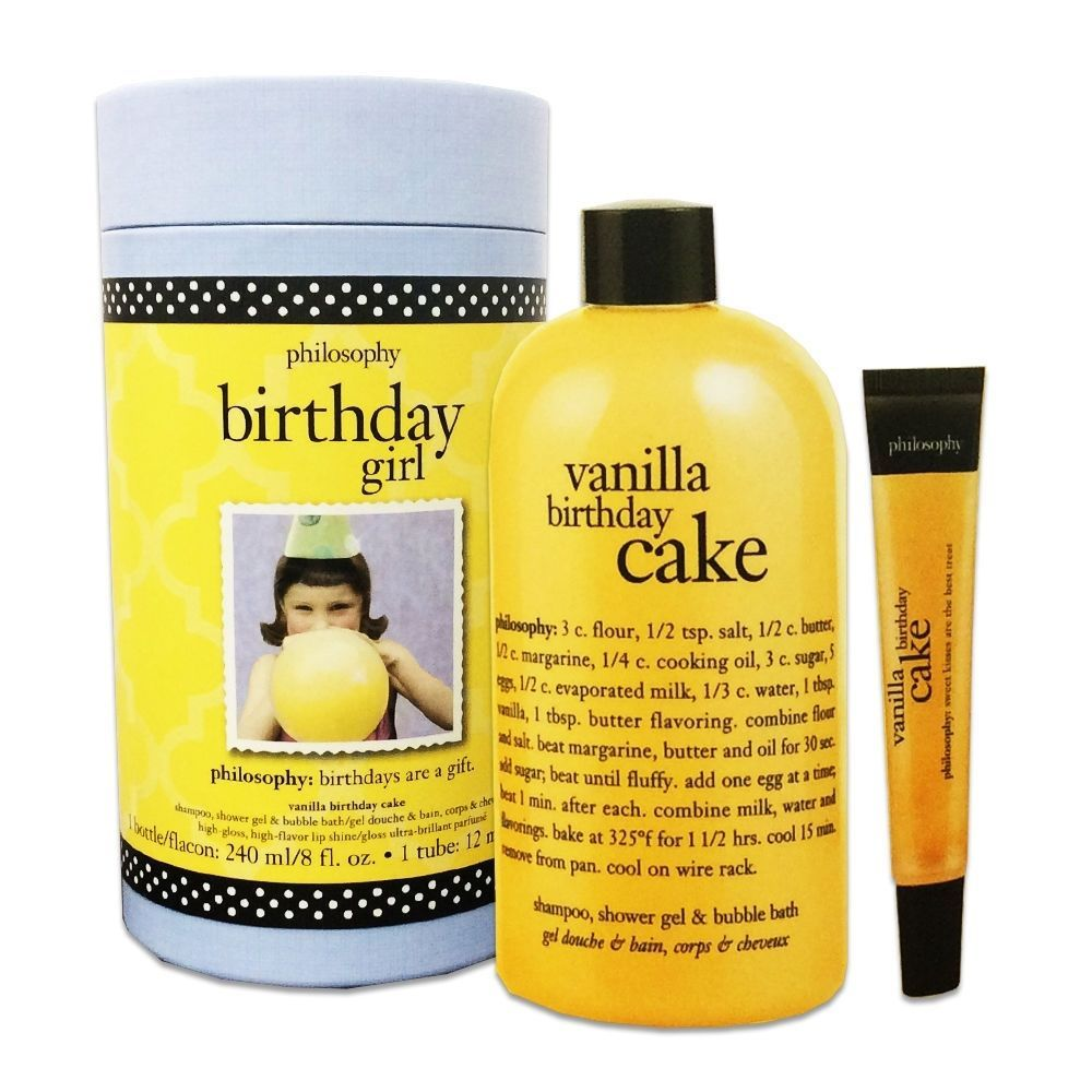 Philosophy Birthday Girl Women Vanilla Cake Gift Set 8 FL OZ