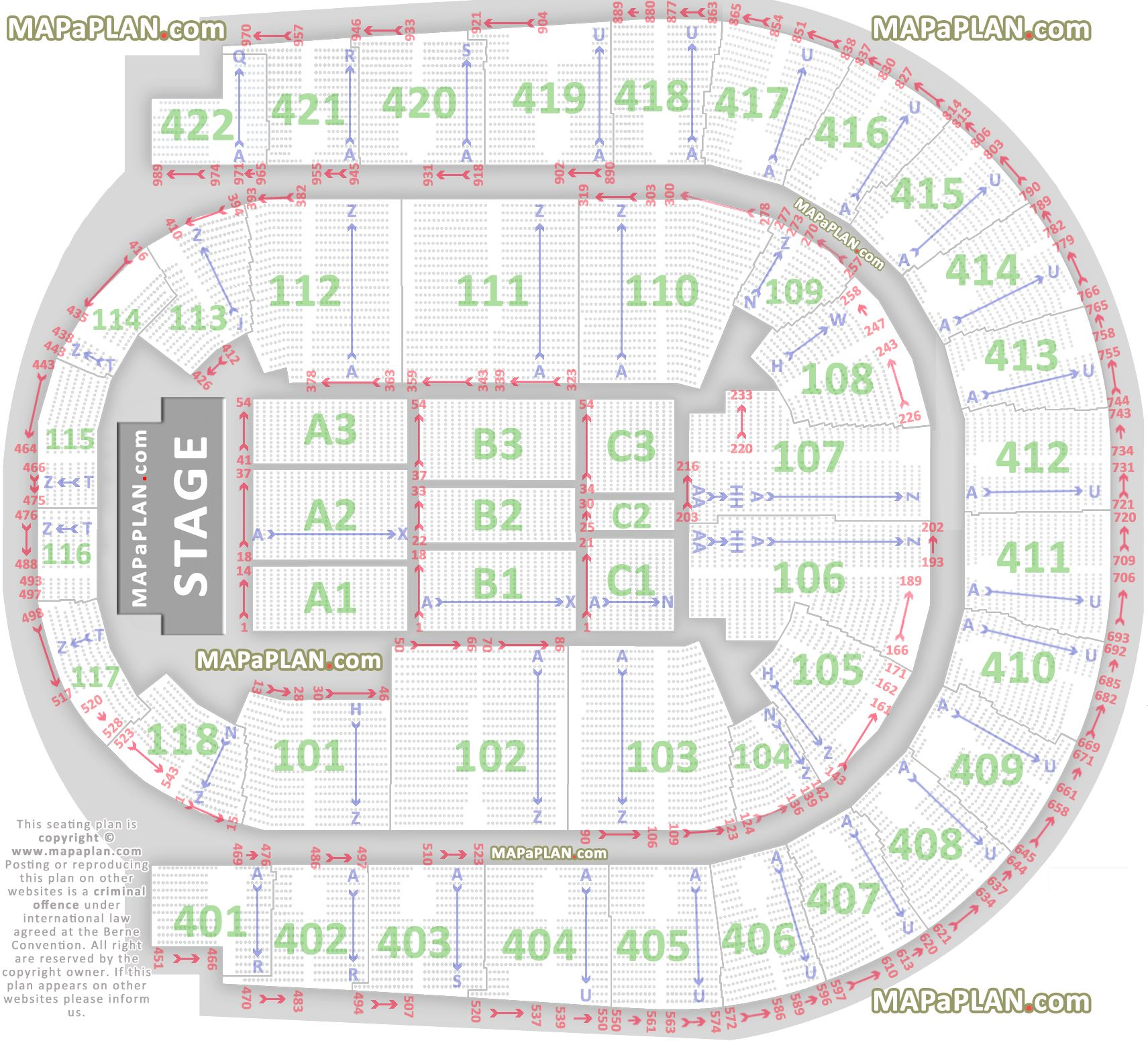 Nec Birmingham Floor Plan The O2 Arena London Seating Plan Detailed Seats Rows And