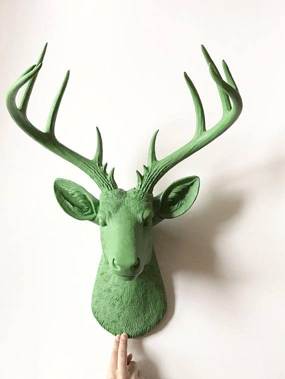 Deer Mount Head Mule Ceramic Wall