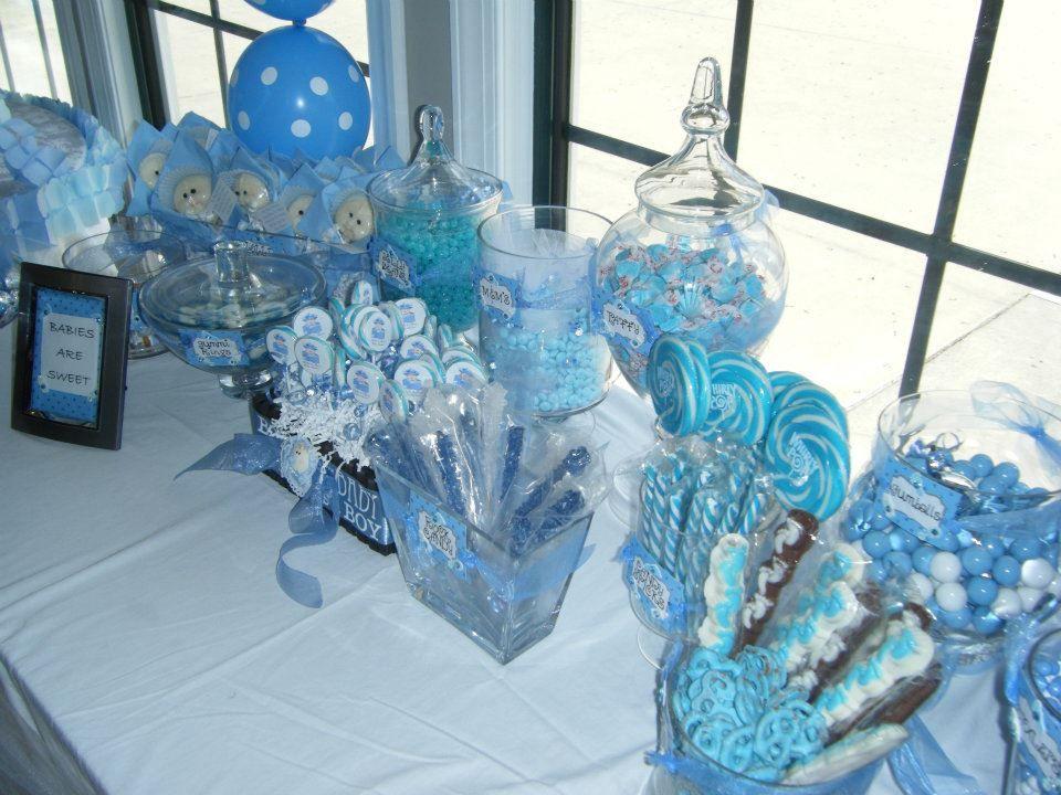 Candy Buffet Boy Blue Baby Shower Candy Buffet Blue Boy
