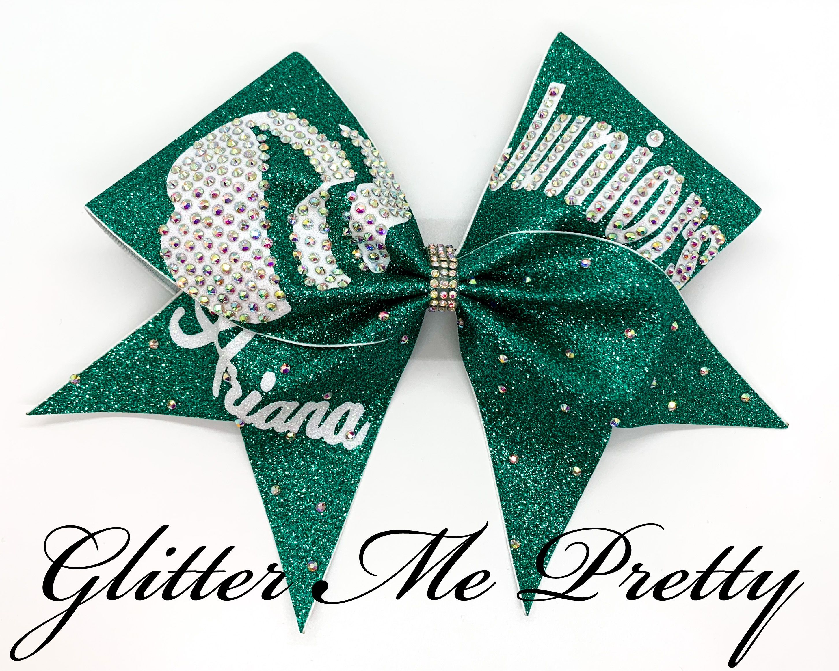 Glitter Bows Personalized Girl Scouts Hair Bow Girl Scouts Hair Bow Personalized Cheer Hair Bow Personalized Hair Bow Cheer Bows