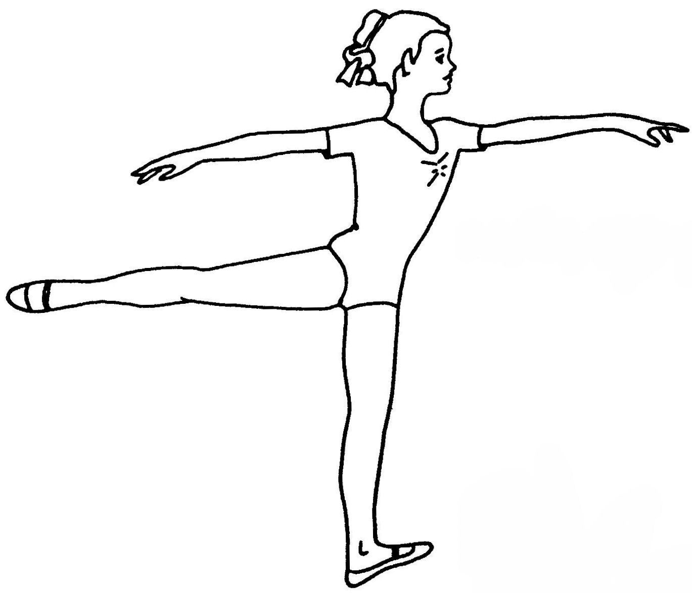 1st arabesque | coloring pages | Pinterest | Dancing, Dance teacher ...