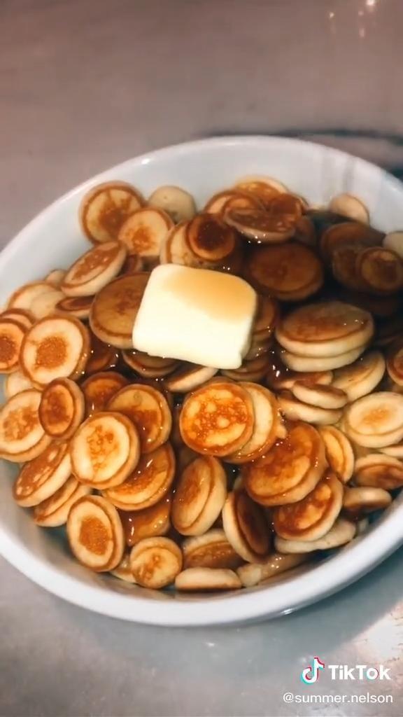 Popular And Easy Pancake Cereal Recipe Food Tiktok Video Cereal Recipes Healthy Snacks Recipes Diy Food Recipes