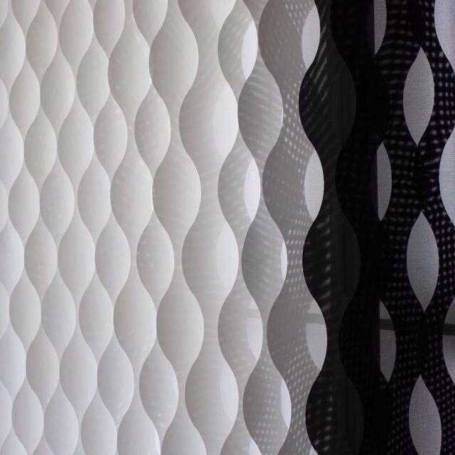 Cortina vertical con forma de onda que tambi n se puede - Formas de cortinas ...