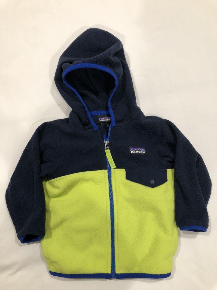 97ea07c11b93 Patagonia Micro D Snap-T Fleece Jacket infant boys size 6-12 months ...