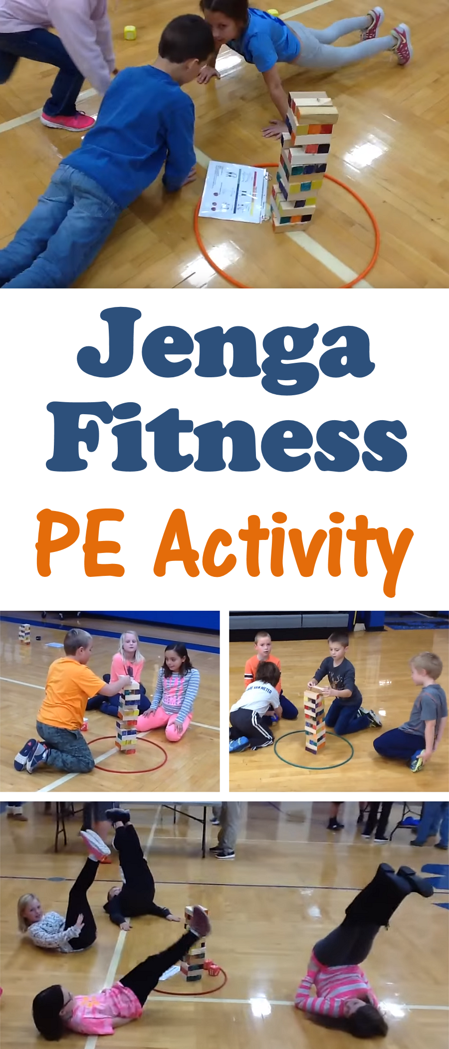 PE Teacher Bart Jones shares how to play Jenga Fitness, an activity that helps students build skill...