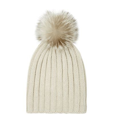 69bfc64ee8b Harrods of London Fur Pom Pom Cashmere Hat Beige available to buy at  Harrods. Shop women s designer accessories online and earn Rewards points.