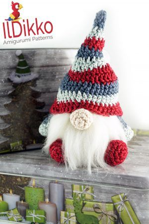 Christmas Gnome – Amigurumi Crochet Pattern | #christmasgnomes