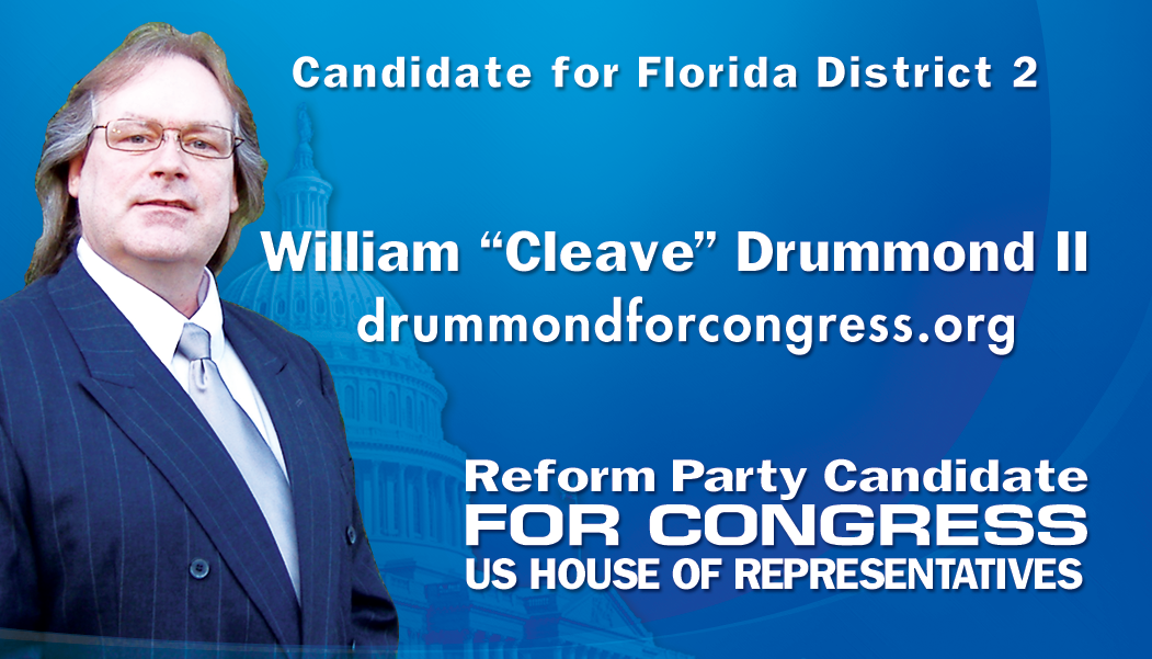 Front of the Campaign Information Business Card for William Cleave ...