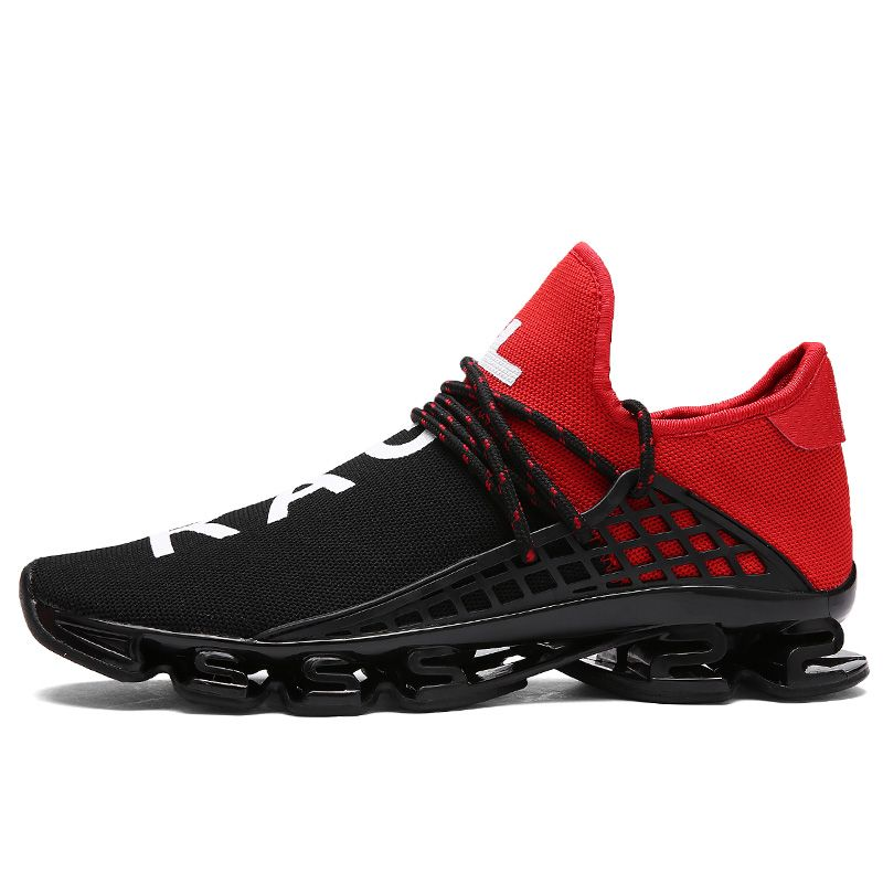 Trainers Men And Women 2017 New Brand Sneakers Outdoor Breathable Running Shoes Blade Sole Athletic Spo Running Shoes For Men Camping Shoes Red And Black Shoes
