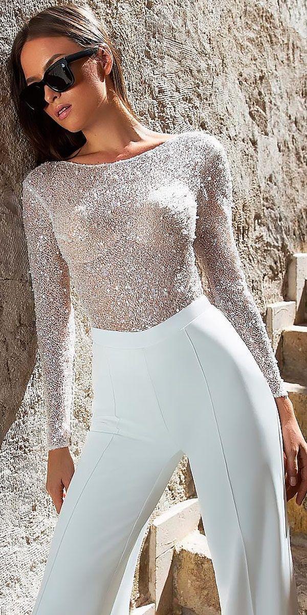 7cd2ece3720 Trend 2019  27 Wedding Pantsuit   Jumpsuit Ideas