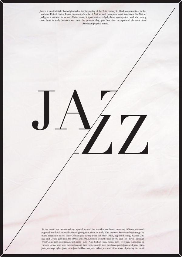 Modern jazz music poster. by Praew Kc, via Behance