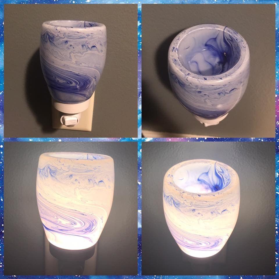 Pink Watercolor Scentsy Warmer Scentsy Pink Watercolor Wax Warmers