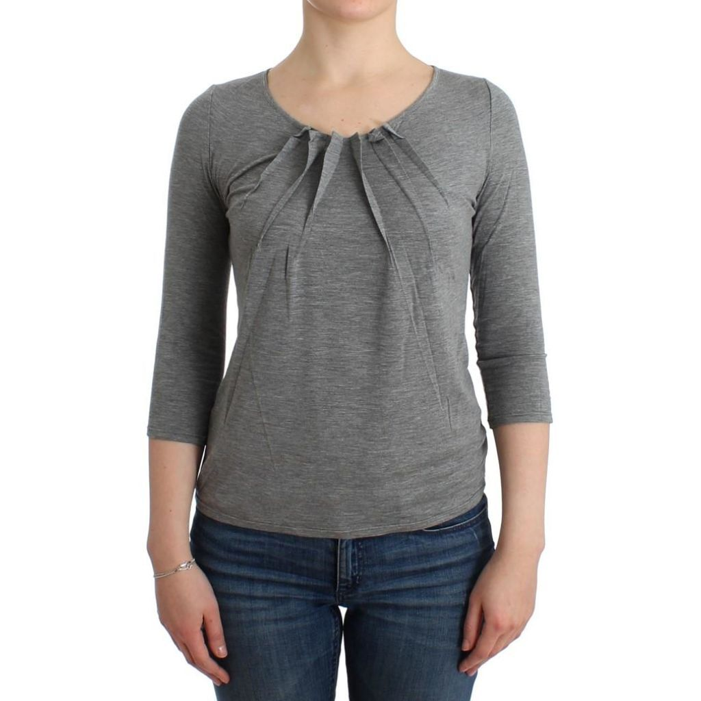 los angeles 671a4 014c3 Cavalli Gray 3/4 Sleeves Jumper Top | Products | Cavalli ...