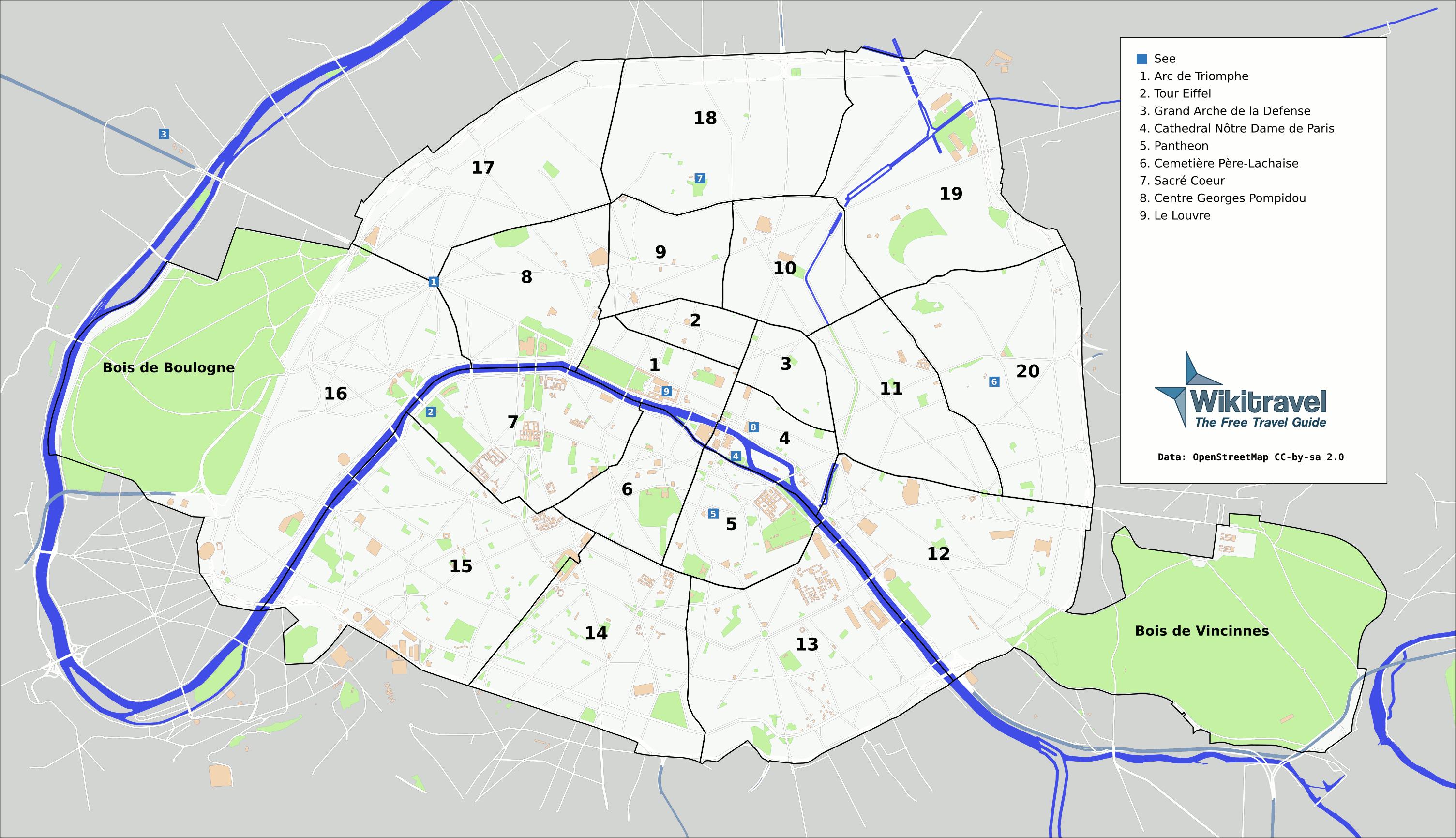 map of Paris districts | Paris | Pinterest | Madrid, Tourist map and ...