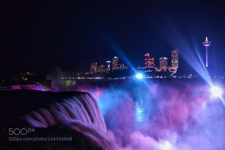 Niagara Falls http://ift.tt/21gGzoB CanadaNikonWaterfallNiagara FallsNiagaraUsaCity lightsSpotlightsbestofmarch