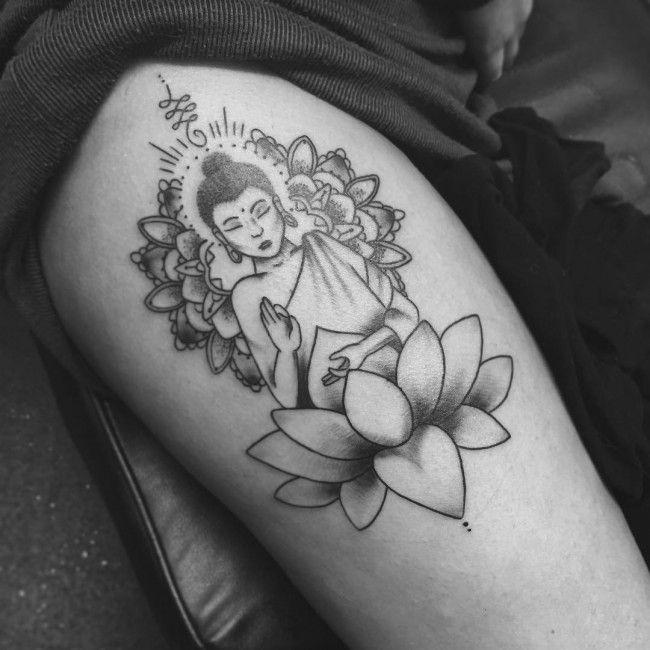 60 Meaningful Buddha Tattoo Designs For Buddhist And Not Only Buddha Tattoo Design Tattoos Sleeve Tattoos
