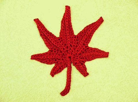 Crochet Maple Leaf Pattern Hkeln Blumen Co Pinterest