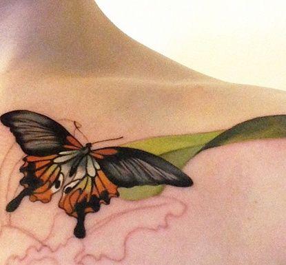 1228bfb6e butterfly-under-neck. butterfly-under-neck. Подробнее... 40 Creative  Butterfly Tattoos For Inspiration