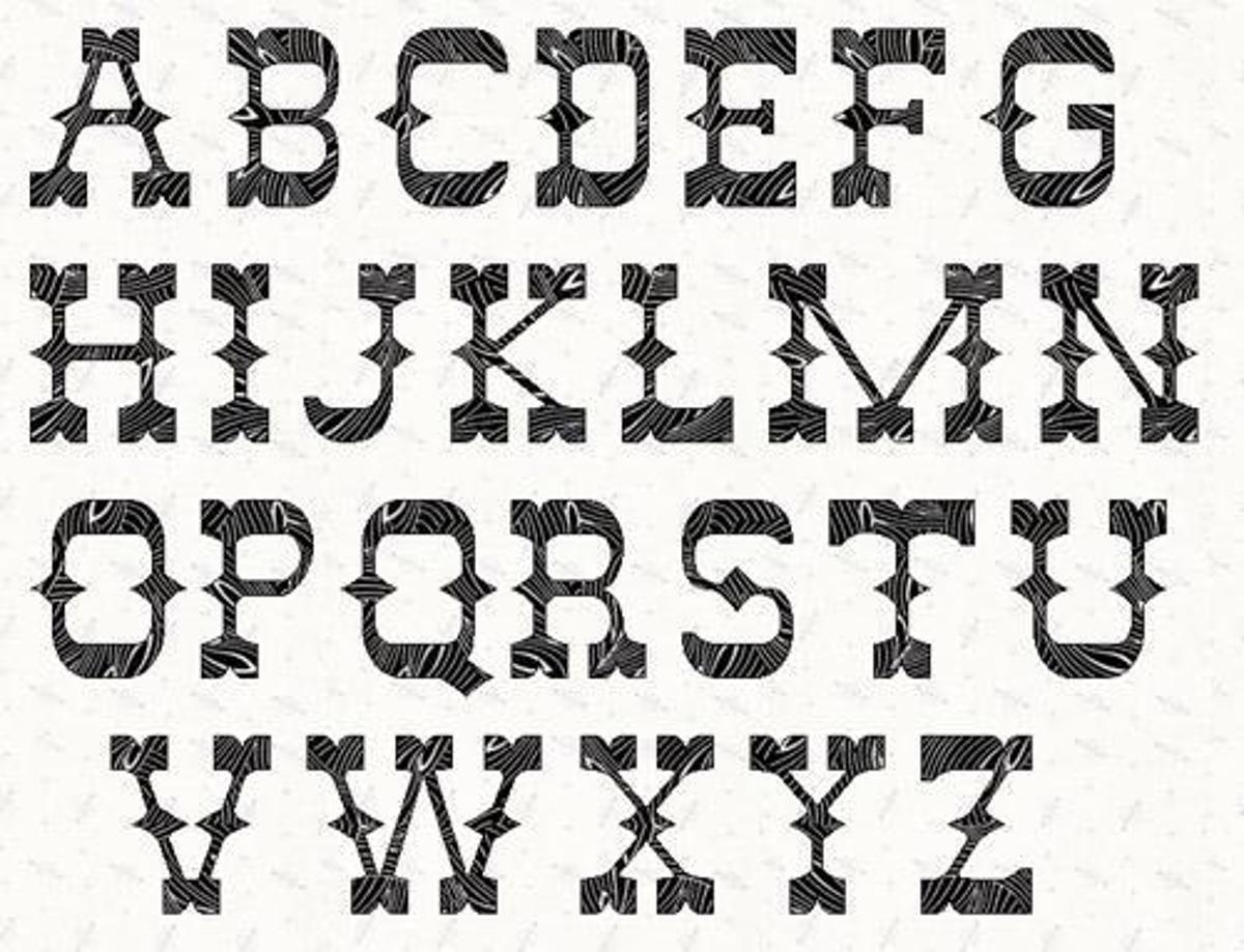 Alphabet western 5 inch stencil stenciling woodburning and wood alphabet western 5 inch stencil craftsy spiritdancerdesigns Images