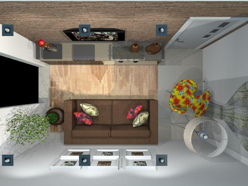Vista a rea sala de estar projetos de design de for Sala de estar vista desde arriba