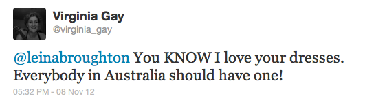 AMAZING feedback from Virginia Gay on Twitter :-)