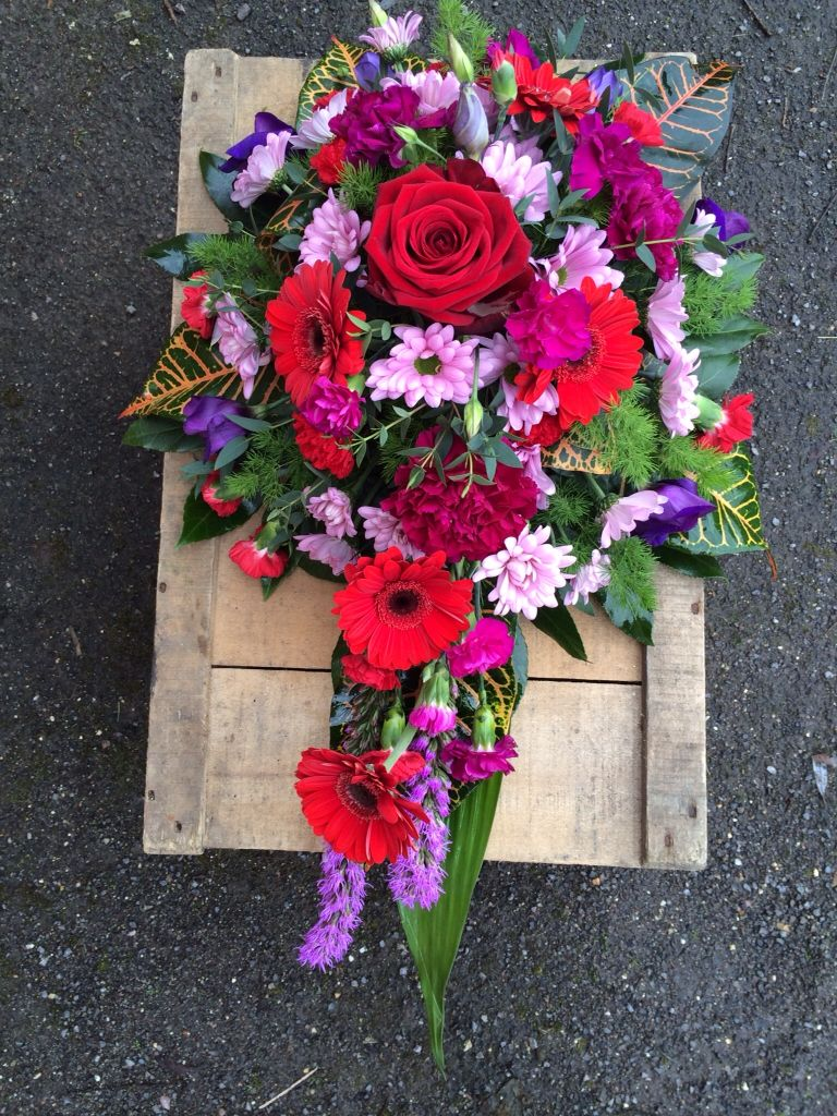 A Single Ended ( Tear Drop ) shaped funeral tribute, made here in ...