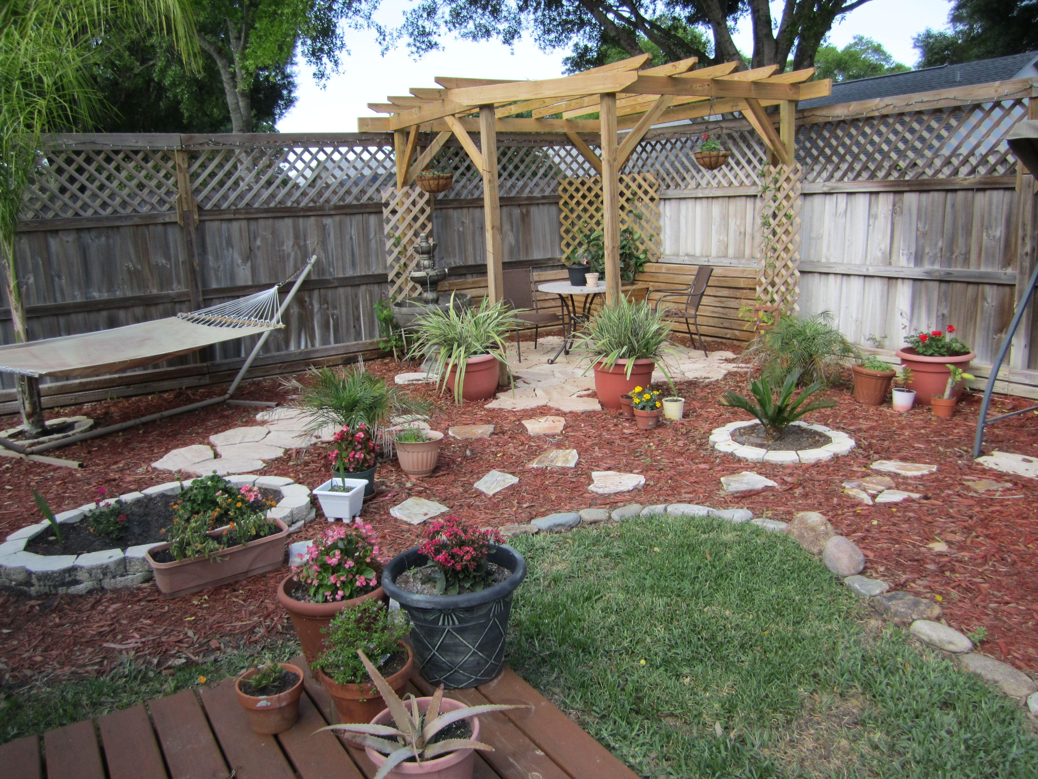backyard nook i like the hammock the