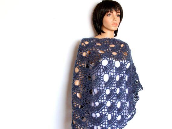 Triangular Lace Crochet Shawl Pattern PDF by etty2504 on Etsy