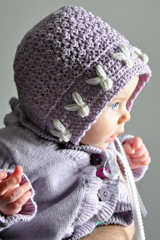 So sweet - free crochet bunny baby bonnet pattern. | Crochet-All ...