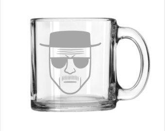 Breaking Bad Large Coffee Mug 13oz- Heisenberg Engraved Glass
