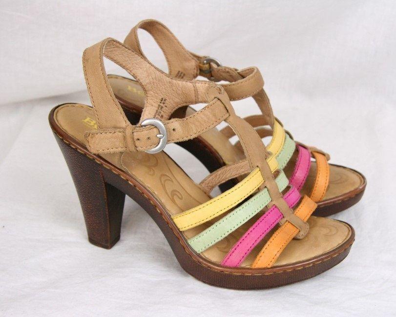 Born Multicolored Sandals Size 8