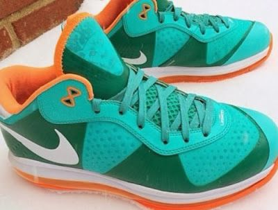 Nike Lebron 8 VIII Miami Dolphins Low Sample Sneaker (Detailed Images)