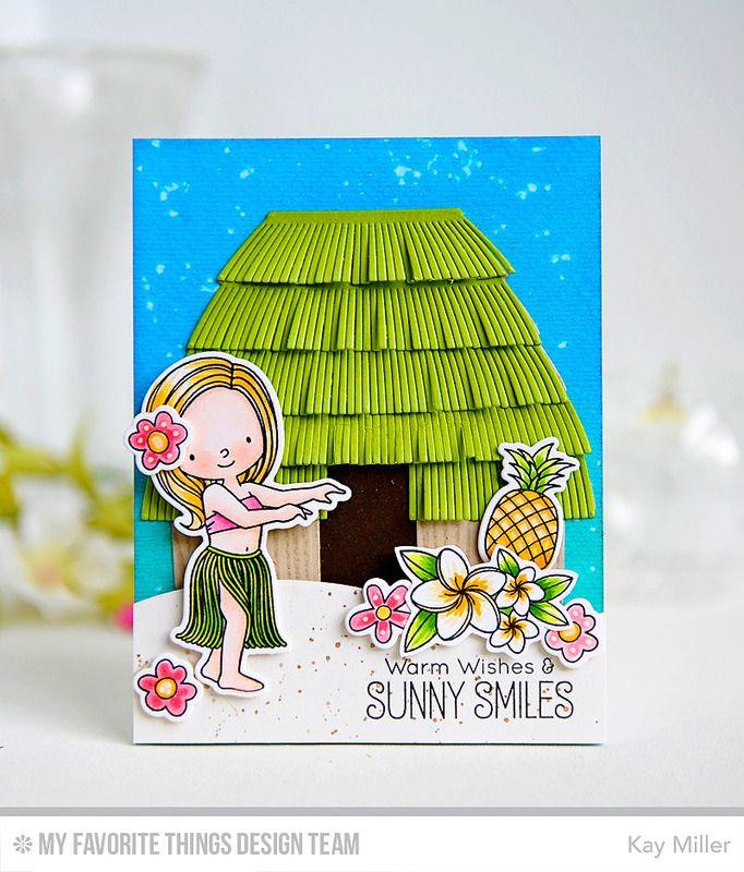 Inspiration Photo Tiki Hut: Polynesian Paradise Stamp Set And Die-namics, Tiki Hut Die