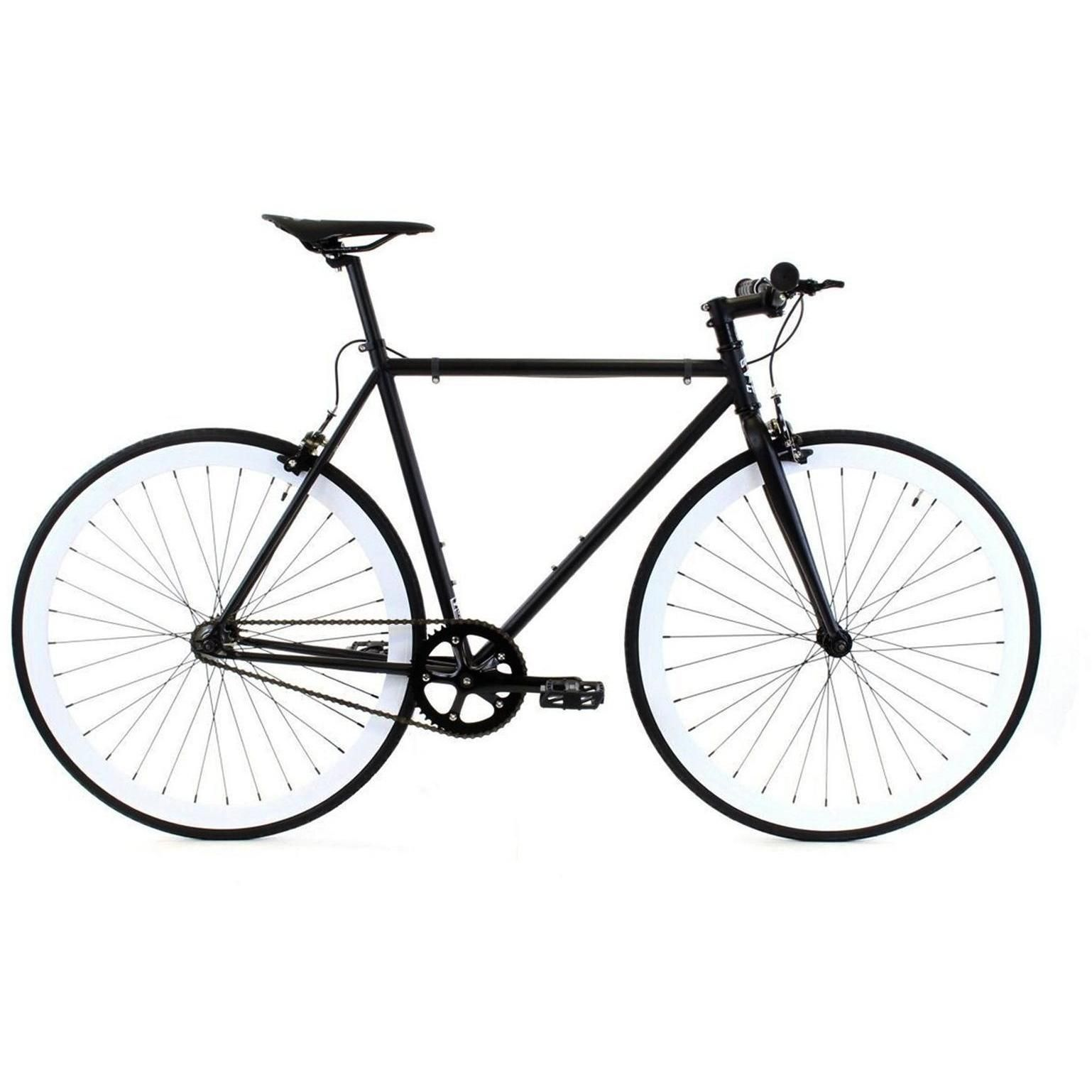 Golden Cycles | Domino Black/White Steel Frame Fixed Gear Bike ...