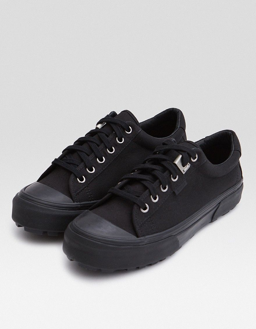 d16fdae1b675e5 Classic low-top sneaker from Vault by Vans in collaboration with ALYX in  Black. Canvas upper. Lace-up front with flat woven laces.