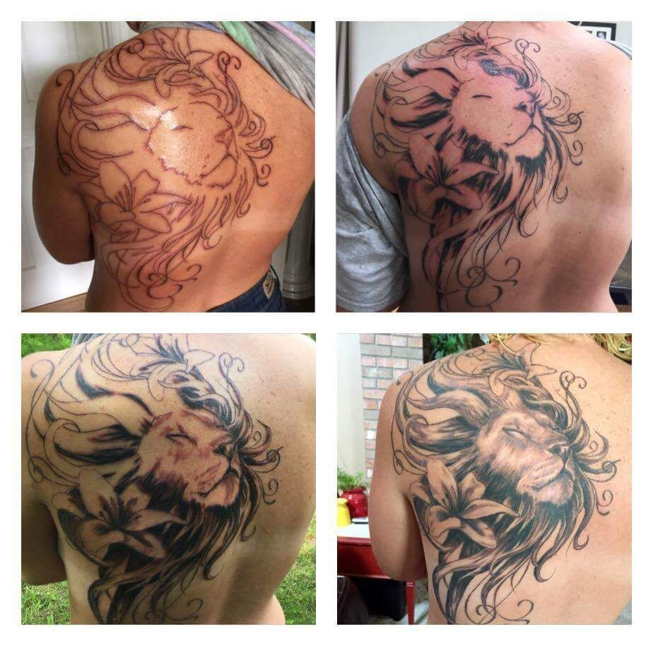 Still One More Session Before It S Finished My Lion And Lily Tattoo Is Beautiful So Far Though Color Is Next Lily Tattoo Tattoos Inspirational Tattoos