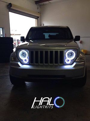 2008 2013 Jeep Liberty White Plasma Light Headlight Halo Kit By