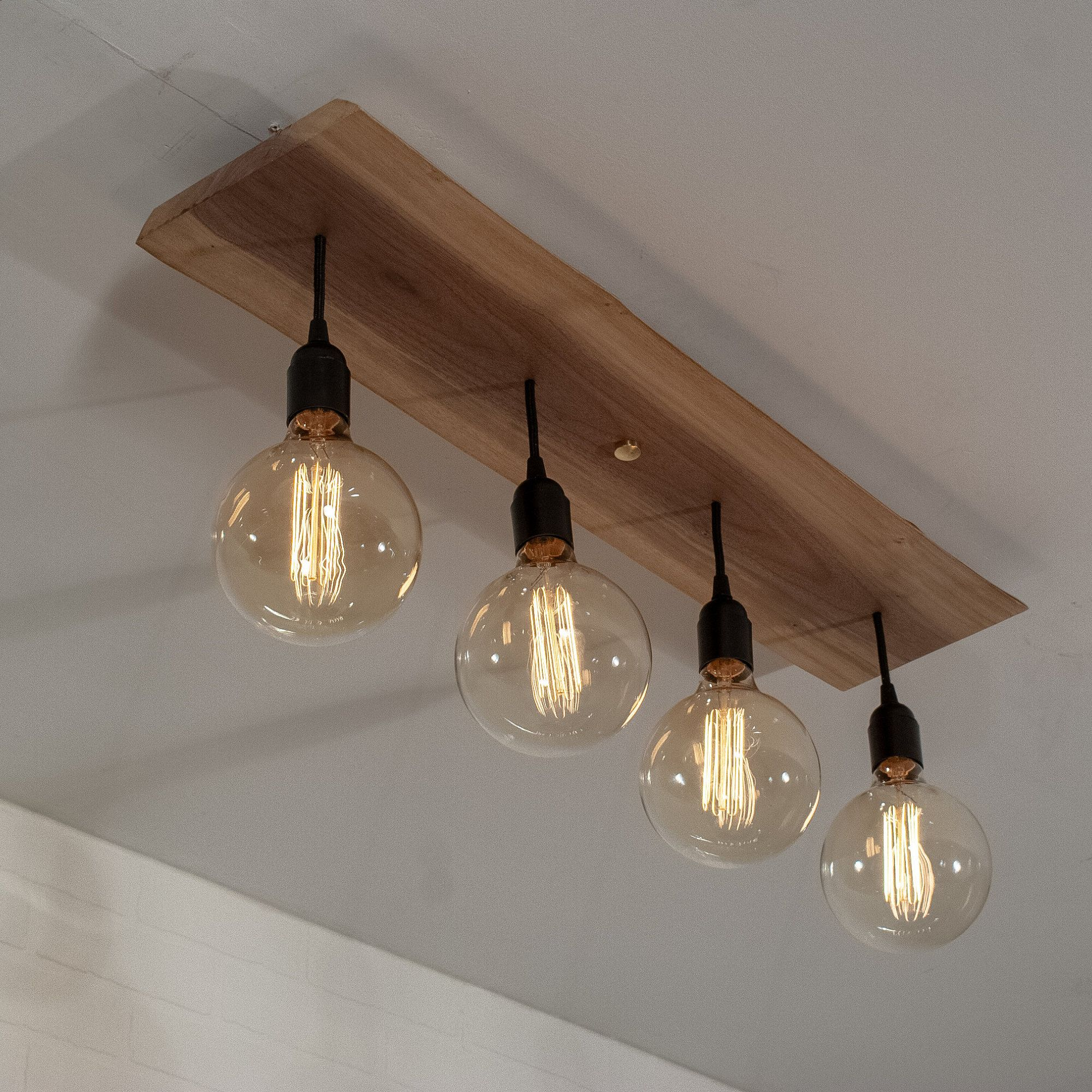 Modern Kitchen Island Lighting Fixture With 4 Short Edison Bulb