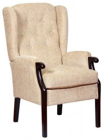 Just 189 With Free Uk Delivery Rome Orthopedic High Back Chair Queen Anne Style Fireside Chair Beige 21 7 Fireside Chairs High Back Chairs Chair