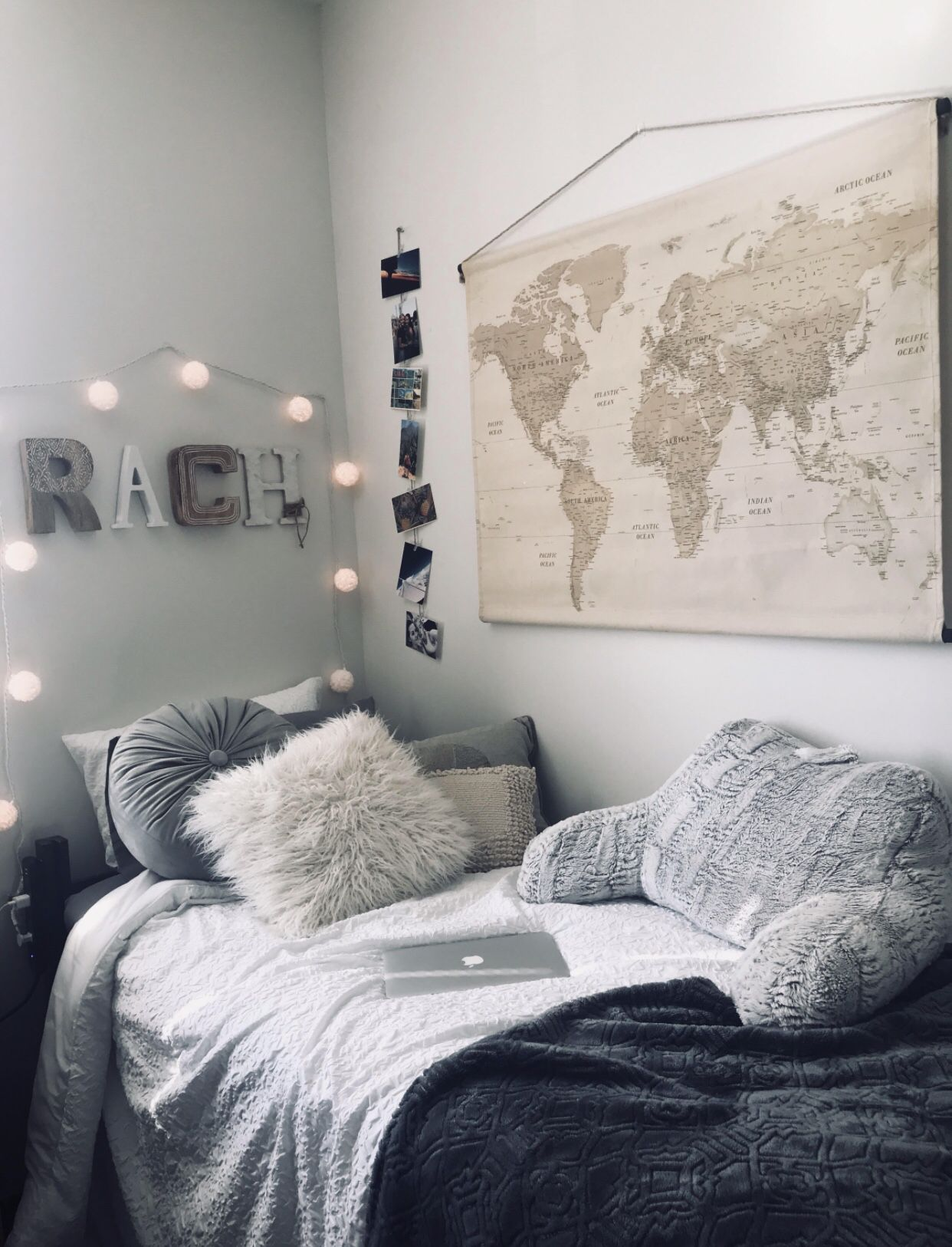 Aesthetic Dorm Room: Vintage Map Tapestry Wall Decor