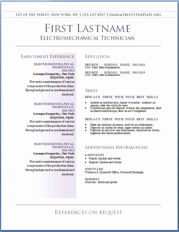 25 totally free resume template in 2020