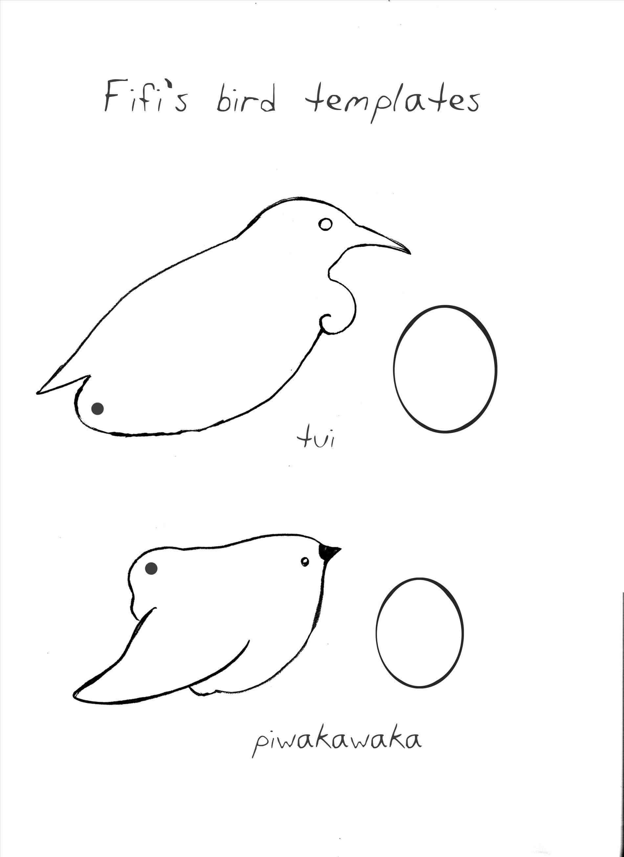 Bird Crafts Template