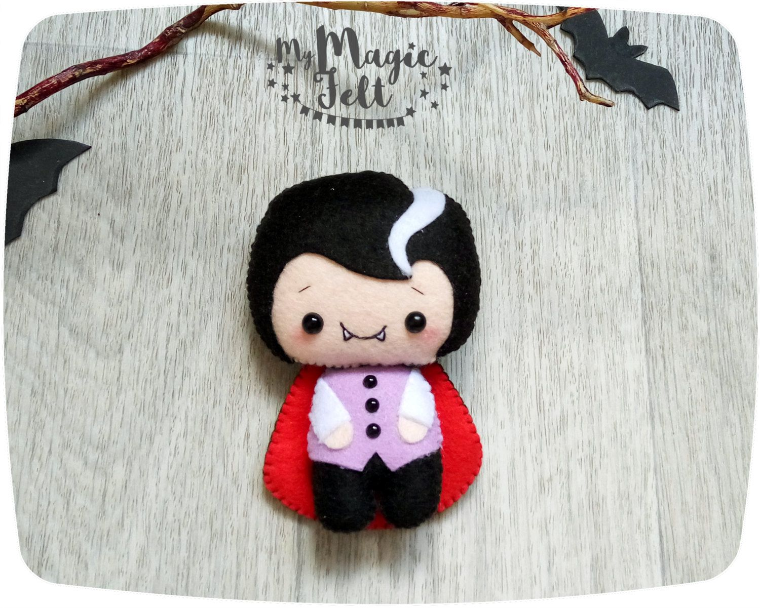 Halloween felt ornament Dracula Halloween decor cute felt ...