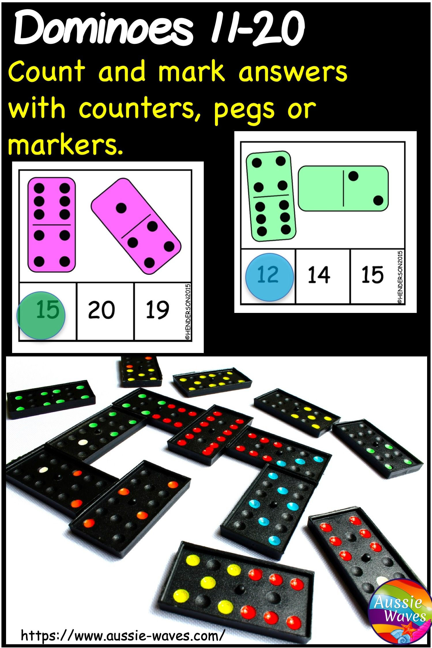 Kinder Math Center Activity Using Dominoes Numbers 11 20