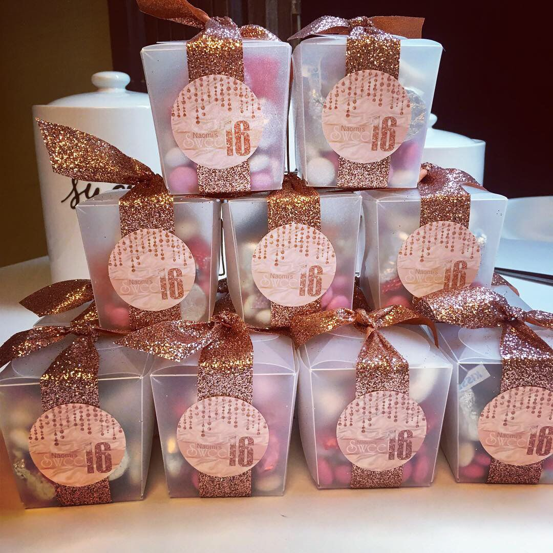 Sweet Sixteen Rose Gold Favors Sweet 16 Party Favors Sweet Sixteen Party Favors Rose Gold Party Favors