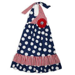 Swoon! Love this Navy Dot Red Stripe Halter Maxi Ruffle Dress I discovered at lollywollydoodle.com and for only $38! Click the image above and receive $5 off on your next order!