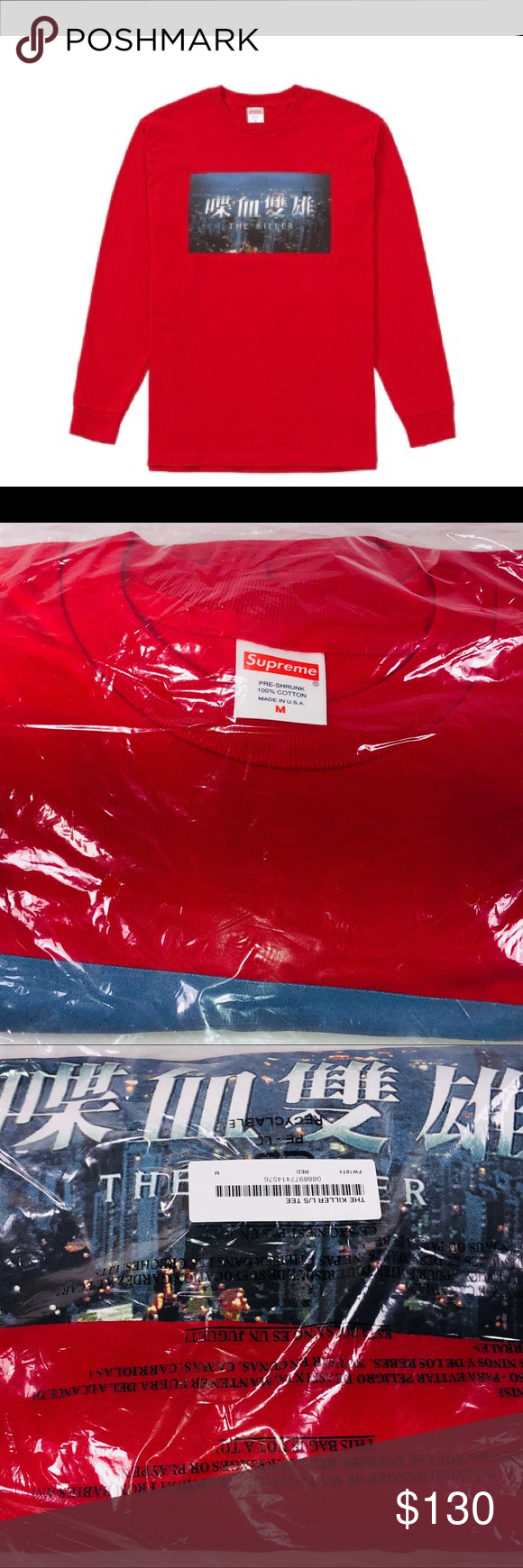 4a6f9ec7d960 Supreme The Killers Long Sleeve Tee Red FW18 New Deadstock In Plastic Bag  See Pictures For Details. Supreme The Killers L/S Long Sleeve Tee Red &  Multicolor ...